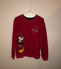 Vintage Mickey Mouse Sweater Embroidered Large L Disney studded