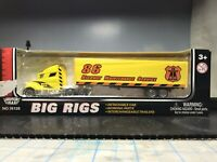 C-10 Motormax 40' Tractor Trailer Big Rig 1:87 die-cast 86 HWY MAINT SERVICE.