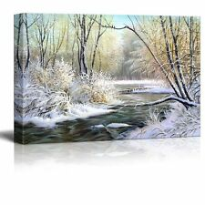 """Canvas Prints Wall Art - Winter Landscape with the Wood River - 32"""" x 48"""""""