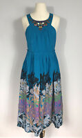 Anthropologie Moulinette Soeurs Beaded Silk Island Nightfall Dress Women's 4