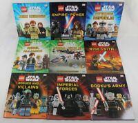 Lego Star Wars Lot of 9 Hardcover Book DK Disney Jedi Empire Yoda Sith Heroes+