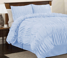 Egyptian Cotton 800TC Gathered Ruffle Duvet Cover Set 5 Piece All Size & Color