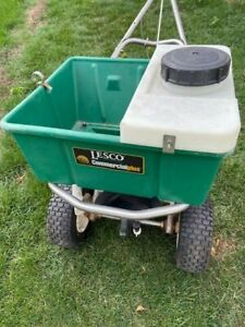 LESCO Commercial 80# BROADCAST SPREADER w/ SYNERGY SPRAYER Attachment, Used