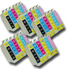 """30 T0791-T0796 """"Hibou"""" non-OEM Cartouches d'encre compatibles avec Epson Stylus 1 500 w"""