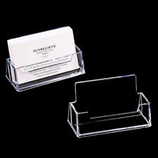 Clear Office Useful Business Card Holder Desktop Dispenser Display Stand yua