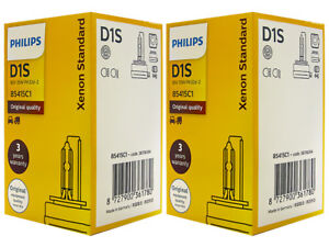 2x PHILIPS XenStart 4300K OE FACTORY D1S 85415C1 HID XENON Bulbs 35W DOT GERMANY