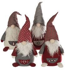 1 x Large 52cm Chunky Christmas Gonk Grey & Red Gift Shelf Mantlepeice Decoratio