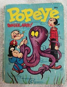 Big Little Book Whitman 1969 Popeye Danger Ahoy Olive Oil 2034 Sailor man Wimpy