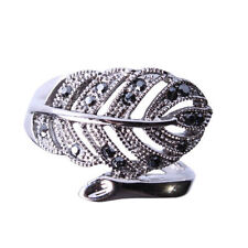 Feather Silver Plated Fashion Rings