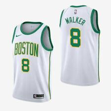 Kemba Walker #8 Boston Celtics Men's N White w/ green & yellow stroke # Jersey