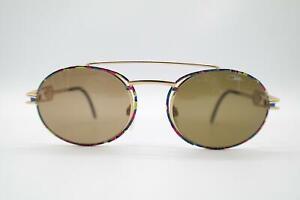 Vintage Cazal 965 Gold Mehrfarbig Oval Sonnenbrille sunglasses Brille NOS