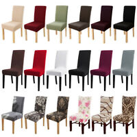 1/4/6Pc Dining Chair Covers Stretch Spandex Jacquard / Velvet / Seat Slipcovers