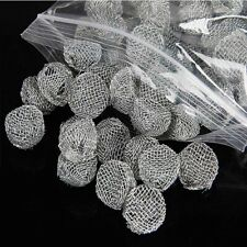 New Lots 10pcs Smoking Tobacco Pipe Bowl Screen Metal Mesh Pipe Bowl Accessories