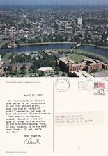 AERIAL VIEW OVER HARVARD UNIVERSITY CAMBRIDGE MA UNITED STATES COLOUR POSTCARD