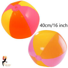 "16"" 40cm Inflatable Beach Ball Blow up Panel Swimming Pool Kids Party Holiday"