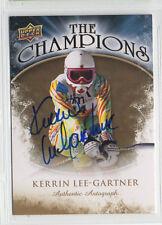 2009-10 Ud Ice Kerrin Lee-Gartner The Champions autograph auto Olympic Skier
