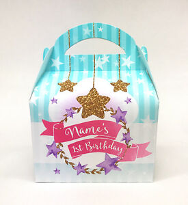 Twinkle Stars Personalised Children Party Boxes Gift Favour