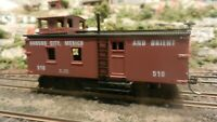 Roundhouse MDC HO Old Time Blind End Caboose, KCM&O, Upgraded, Exc.