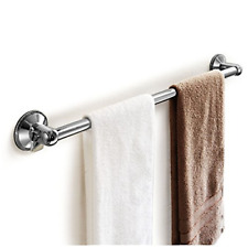 "Shower Door Towel Bar Chrome Suction Mount Bathroom Rack Holder 18"" Bath Toilet"