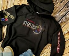 New Women's Pittsburgh Steelers Hoodie Sweatshirt size Medium Rhinestones Bling