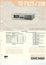 SONY Service Manual Konvolut TC-FX25/25B/20 - B2047