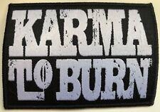 KARMA TO BURN - Logo - 9,2 cm x 6,5 cm - Patch - 165474