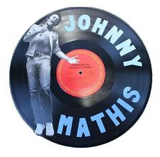 Johnny Mathis- Unique Hand-Painted Recycled Vinyl Record Art -BENEFITS CHARITY