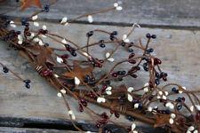 Pip Berry Garland Patriotic Rusty Stars Primitive Decor Red White Blue 40 inch