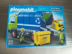 PLAYMOBIL 6110 CITY ACTION  RUBBISH / GARBAGE / BIN TRUCK LORRY *sealed contents