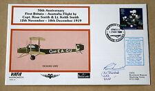 VAFA 15 BROOKLANDS 1ST BRITAIN - AUSTRALIA FLIGHT COVER SIGNED Air Mshl FUNNELL