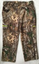 UNDER ARMOUR Mens Fleece Scent Control Hunting Pants Realtree Camo 1248011 3XL
