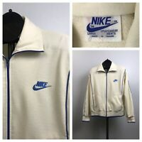 1980s Nike Track Jacket / Blue Label Nike Stripe Zip Up Coat Taiwan / Large