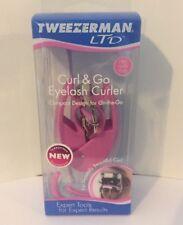 NEW Tweezerman LTD Curl & Go Eyelash Curler- Compact Design-Pink