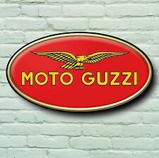 MOTO GUZZI LOGO 2FT RETRO GARAGE WALL SIGN MOTORCYCLE BADGE PLAQUE CALIFORNIA