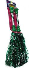 Girls Cheerleaders Dancing Pom Poms - Metallic Green