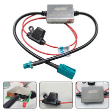 1PC Universal 12V/24V Auto FM & AM Radio Inline Antenna Signal Amplifier Booster