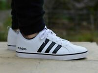 Chaussures adidas Femme Homme Unisexe Vs Pace AW4594 Planche Blanc Cuir Original