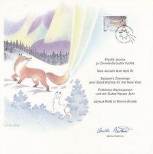 Finland 1999 - Folded Maxi Card - Christmas - Lapland - Aurora Borealis - Snow
