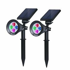 Nekteck Solar Powered Garden Spotlight (2-Pack, Changing Color)