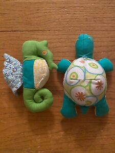 Pottery Barn Kids Turtle and Seahorse Bath Toys