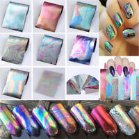 12pcs Holographic Nail Foils Starry Sky Glitter Foils Nail Art Transfer Sticker