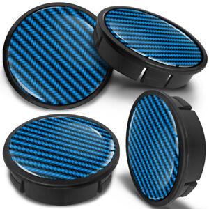 4 x 60 MM - 56mm Hubcap Rim Cover Hubs Cap Wheel Centre Center Caps Black Blue
