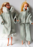 VINTAGE 3 PIECE BARBIE DOLL OUTFIT - HANDMADE - COAT, JACKET and PANTS