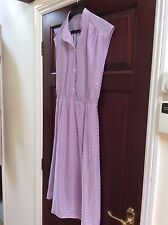 60s 70s Vntg Sgt Pepper-Collar Trendy Lilac Dress Made in England 10/12 Genuine