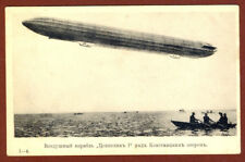 Russian Imperial Airship ZEPPELIN  I over Lake Constance Postcard