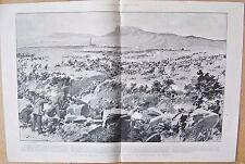 1900 ANTIQUE PRINT - BOER WAR - AMBUSCADE AT KOORN SPRUIT, A CRITICAL MOMENT