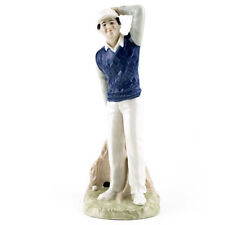 """GOLFER Figurine by Royal Doulton 9.5"""" tall HN2992 Made England NEW NEVER SOLD"""
