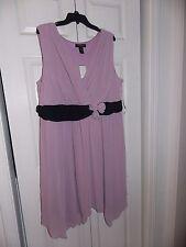 New with Tag Women/Ladies Plus Size 24 ASHLEY STEWART Lt. Purple/Black Dress
