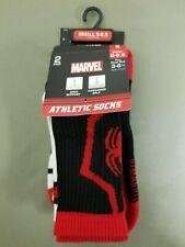 New Boys Marvel Spiderman 2 Pr. Athletic Socks.
