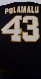 NFL Team Apparel Pittsburgh Steelers #43 Polamalu NFL Players T-shirt M 55-10